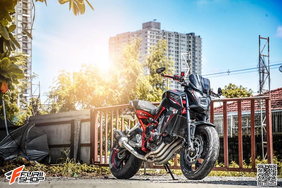 Honda CB650F do day cam hung voi dan ghidong da sac