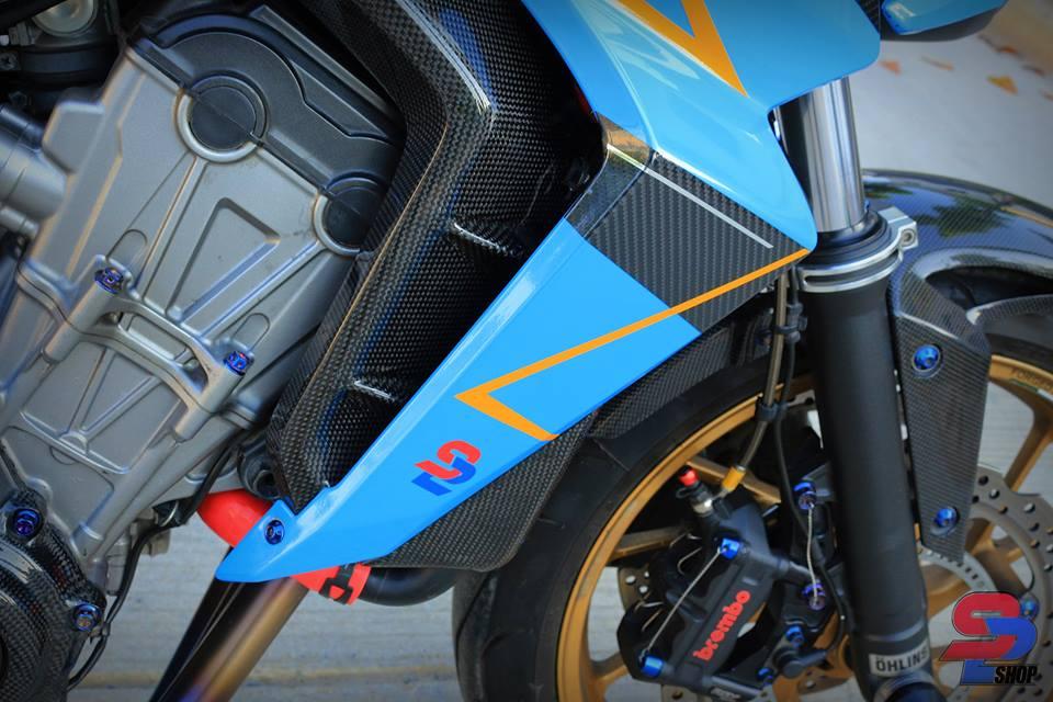 Honda CB650F tao dang cuc oach ben nguoi anh em CBR650F - 8