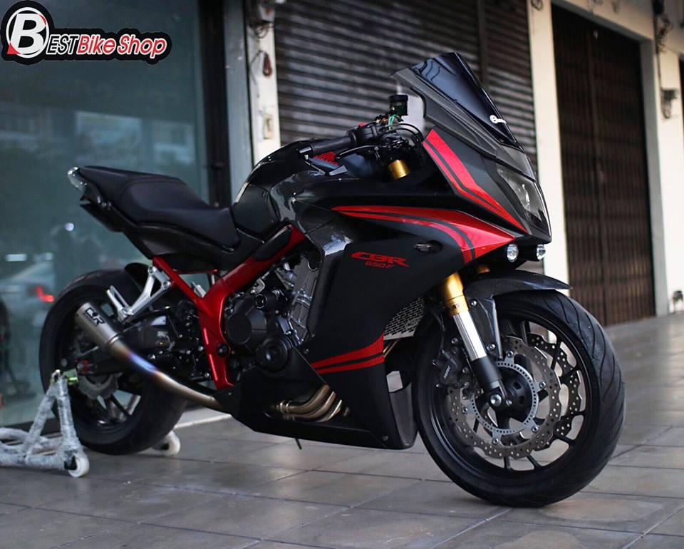 Honda CBR650F do day suc sang tao voi bo canh Matte Black - 4