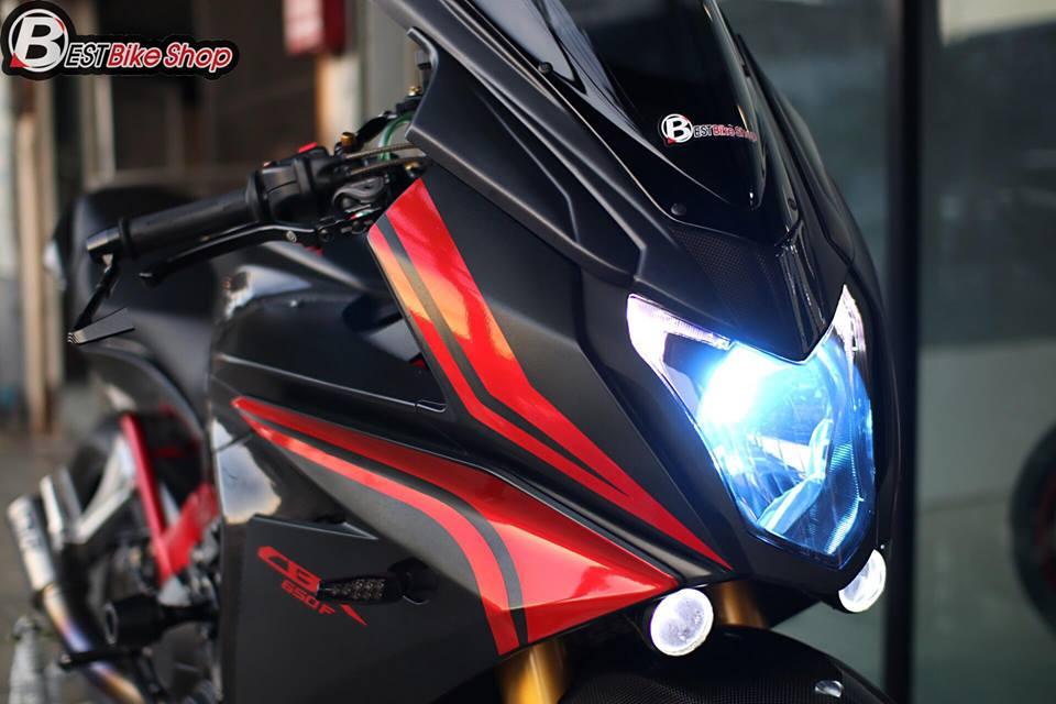 Honda CBR650F do day suc sang tao voi bo canh Matte Black - 14