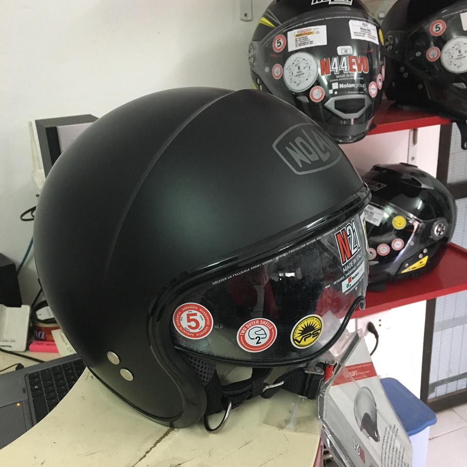 motobox Ve dep tinh te cua Non bao hiem Nolan N21 Flat Black - 2
