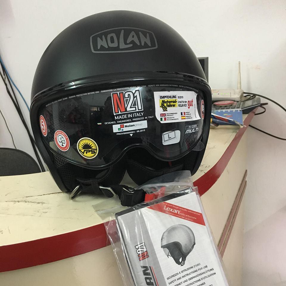 motobox Ve dep tinh te cua Non bao hiem Nolan N21 Flat Black - 3