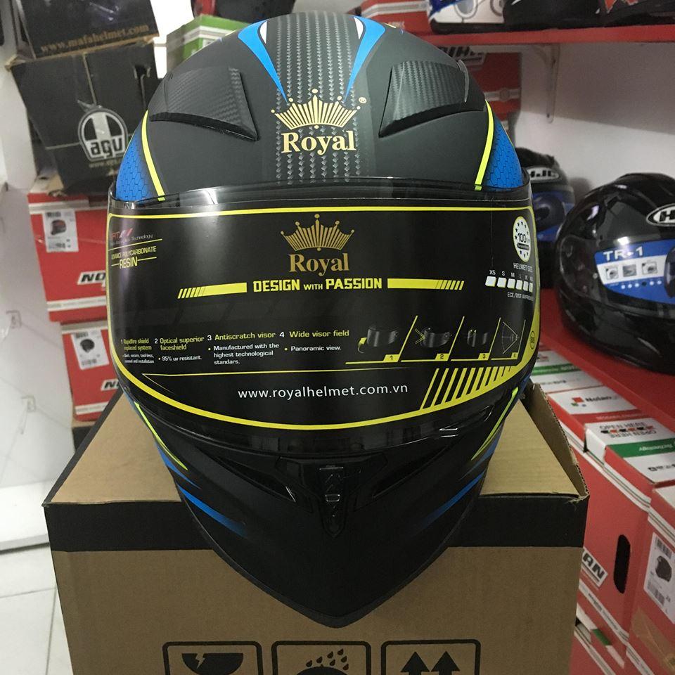 Royal Helmet Ha Noi Wow Wow RoyalM136 da dep nay con chat hon voi tem V20 moi nek ca nha oi - 2