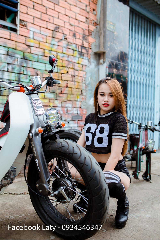 Sieu Nong bong My Ngoc Cung Xe Cub Do Tphcm