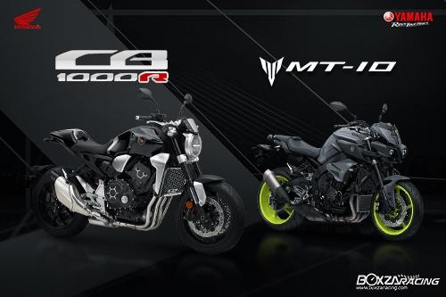 So sanh Honda CB1000R vs Yamaha MT10