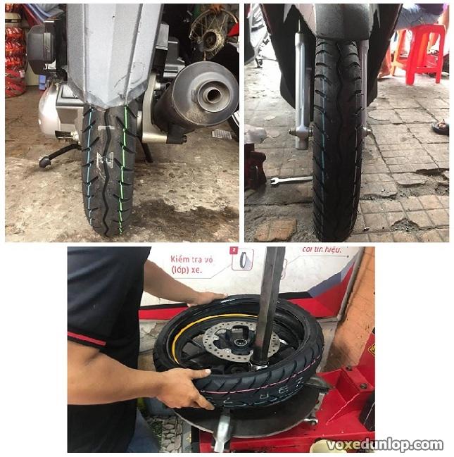Thay vo Dunlop cho xe tay ga Click Thai Tai sao khong - 2