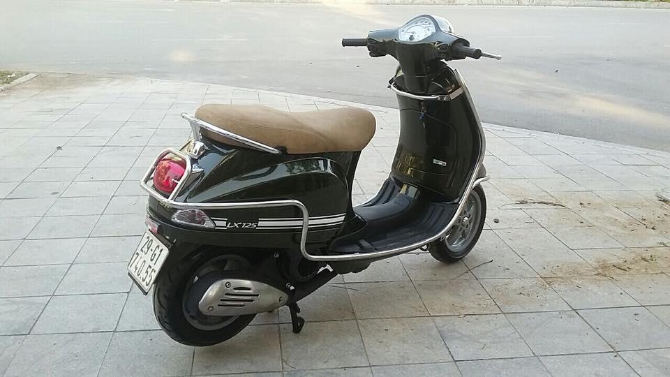 Vespa Lx 125cc nhap italia mau xanh reu bien HN