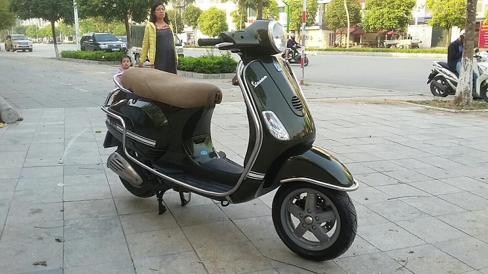 Vespa Lx 125cc nhap italia mau xanh reu bien HN - 2