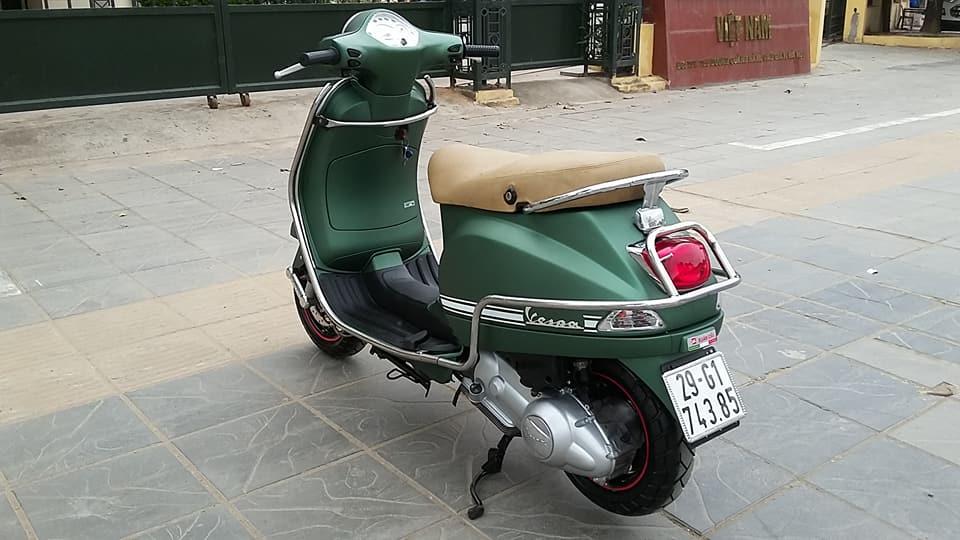 Vespa Lx125 nhap y mau xanh san Sport bien HN 2k18 - 2