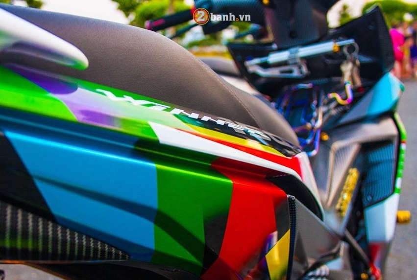Winner 150 do mang ve dep tao bao voi option do choi chat cua biker Long An