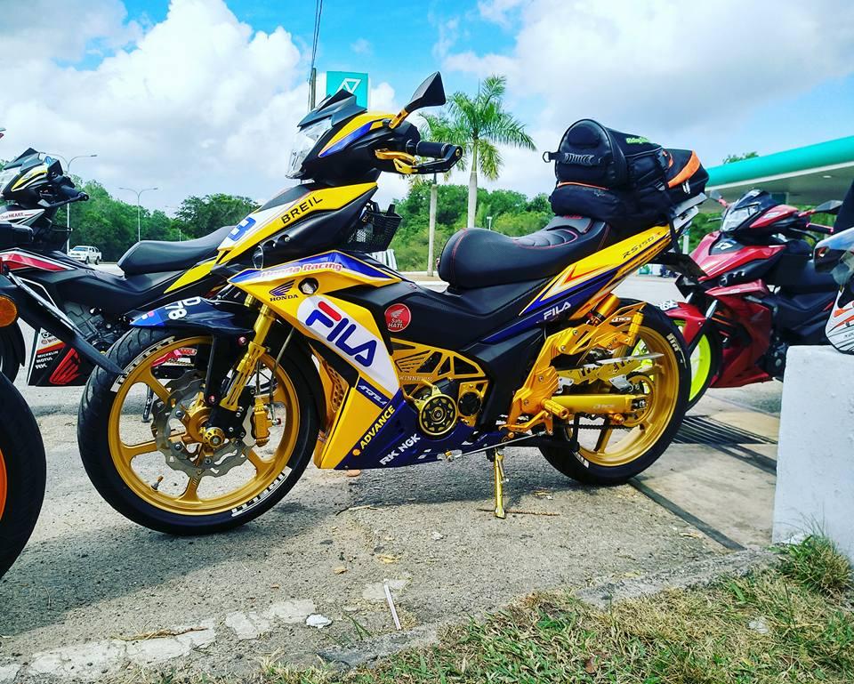 RS150 do voi option do choi tone vang choi loa cua biker Malaysia - 7