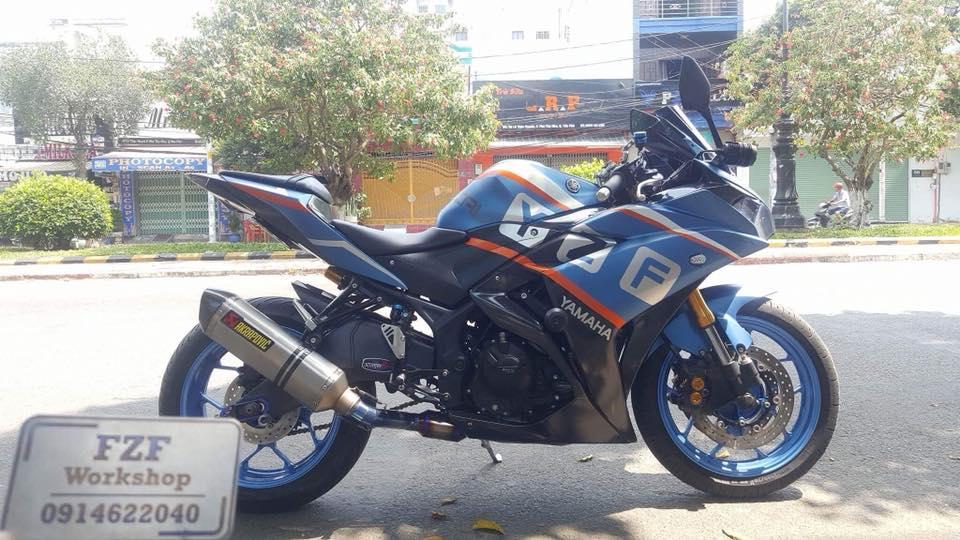 Yamaha R3 do phong cach Touring cua Biker Viet - 6