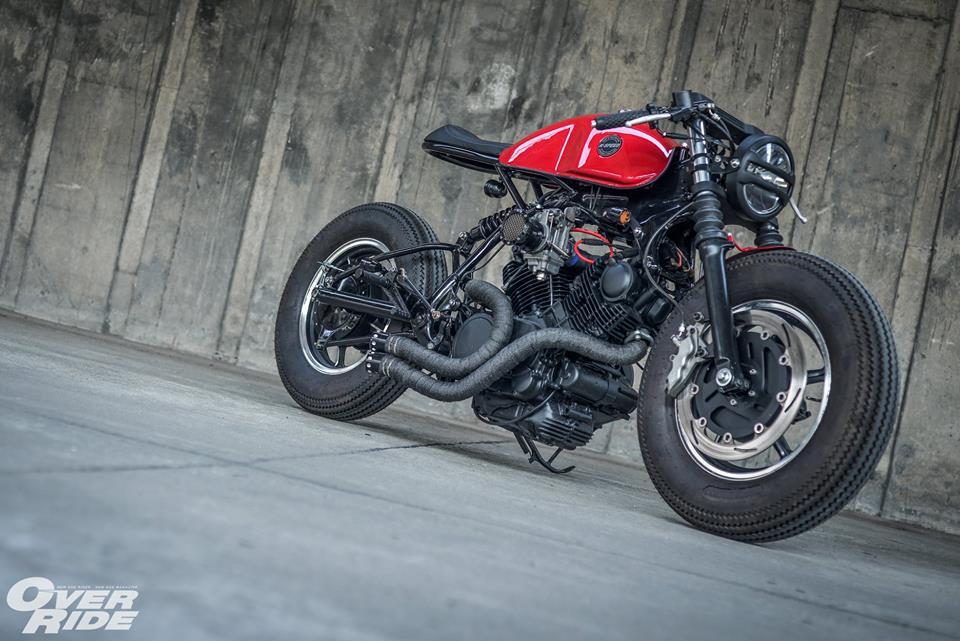 Yamaha Virago 750 than hinh oai ve qua phong cach Cafe Racer