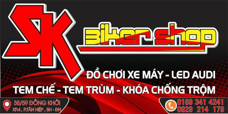 Dan Xe Chuyen Nghiep Do Choi Xe Cao Cap Tai Bien Hoa SK BIKER SHOP - 12
