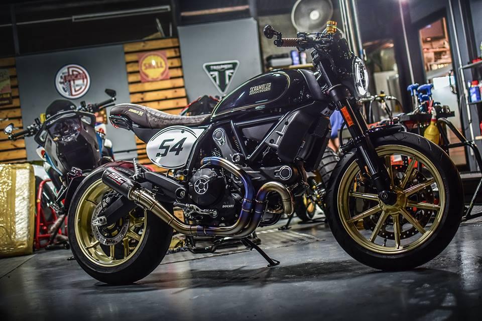 Ducati Scrambler Cafe Racer cucstom by Mugello - 10