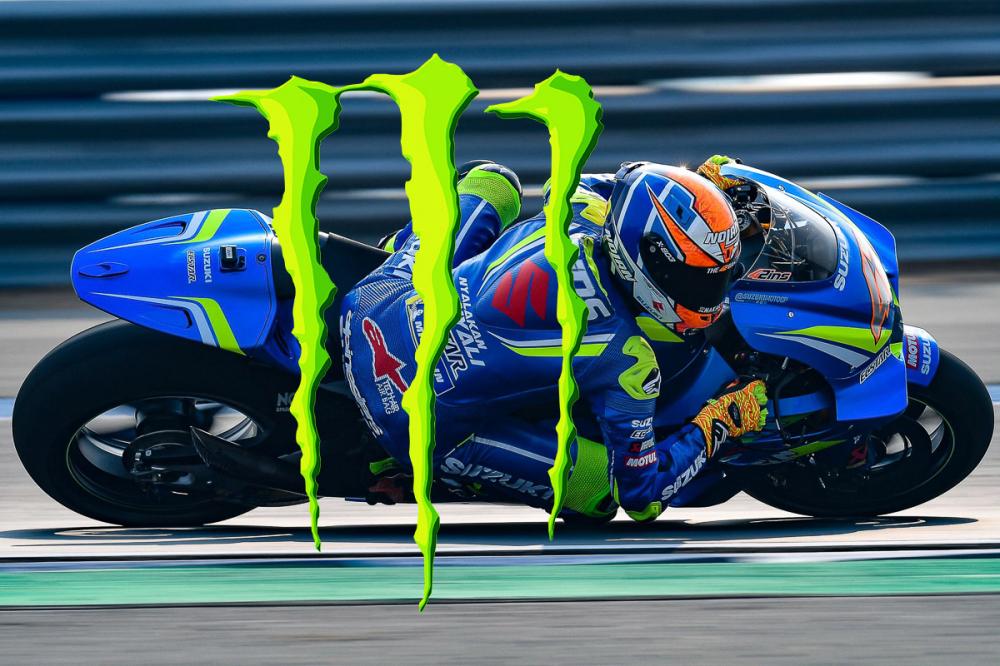 Monster se khong con tai tro cho Yamaha va dau tu cho Suzuki o MotoGP 2019