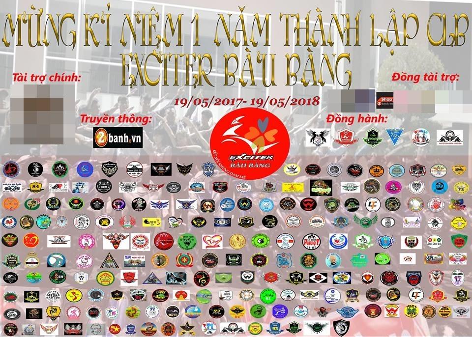 Mung sinh nhat Club Exciter Bau Bang lan I hang tram biker do ve chung vui