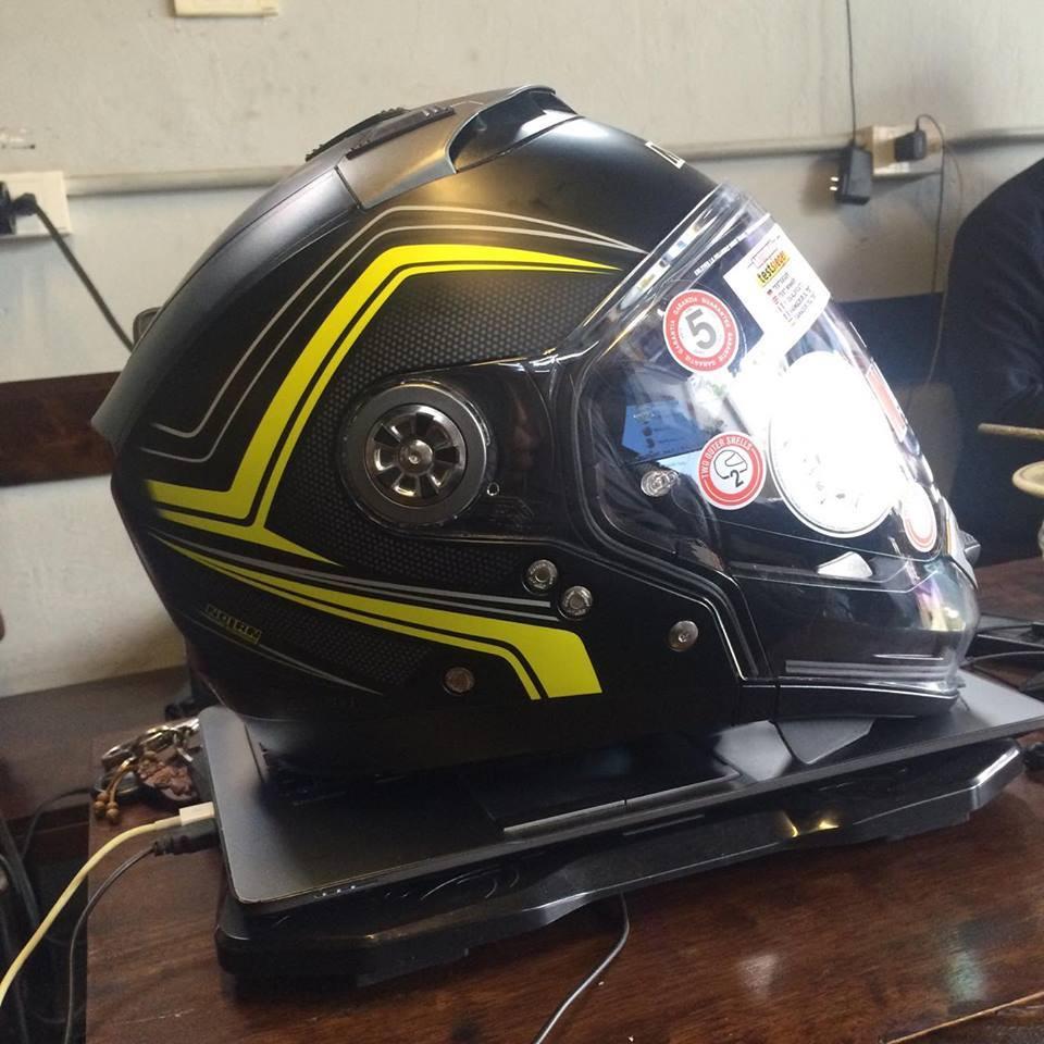 motorush299 MU BAO HIEM Nolan N44 Evo Flat Black Yellow la chieu mu tich hop 6 trong 1 duy nhat da - 3
