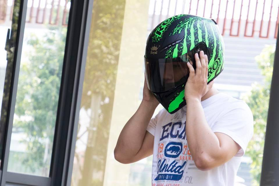 Royal Helmet Ha Noi M138 fullface 1 kinh da co tai Ha Noi - 4