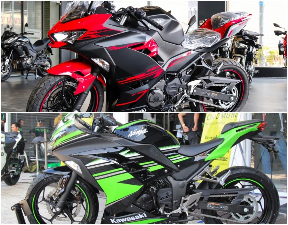 So sanh giua Kawasaki Ninja 250 2018 va Ninja 300