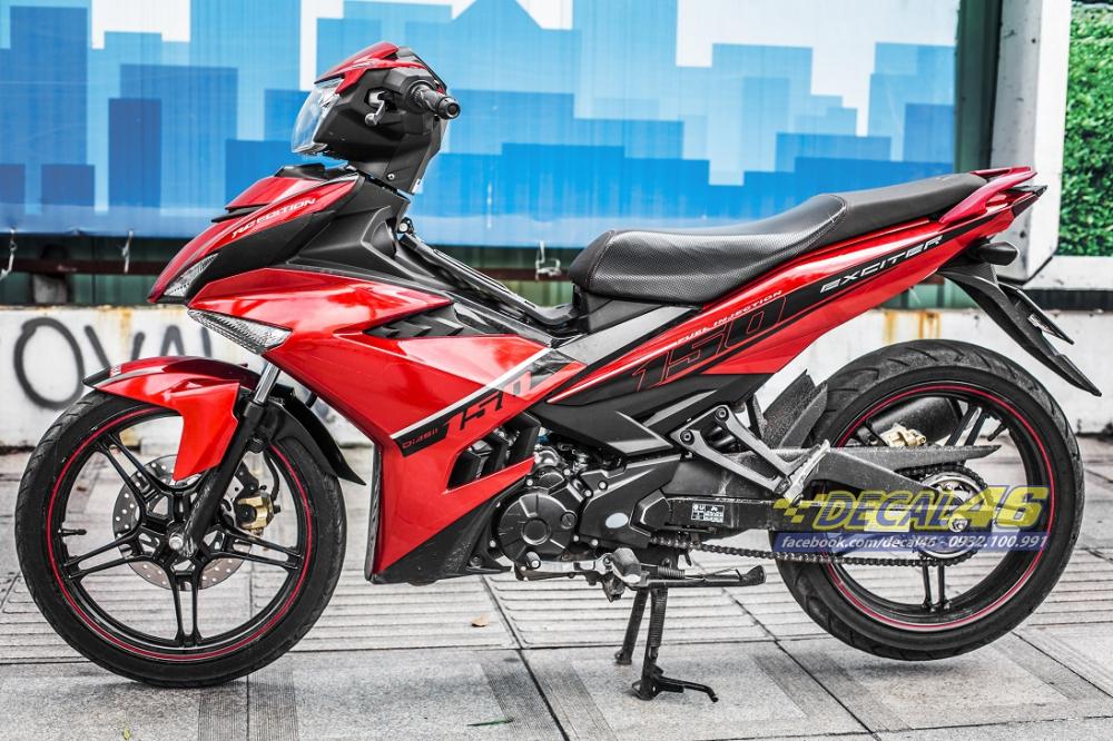 Tong hop tem xe Exciter 150 do den thang 52018 dep do Decal46 thuc hien - 8