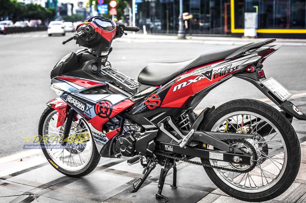 Tong hop tem xe Exciter 150 do den thang 52018 dep do Decal46 thuc hien - 17