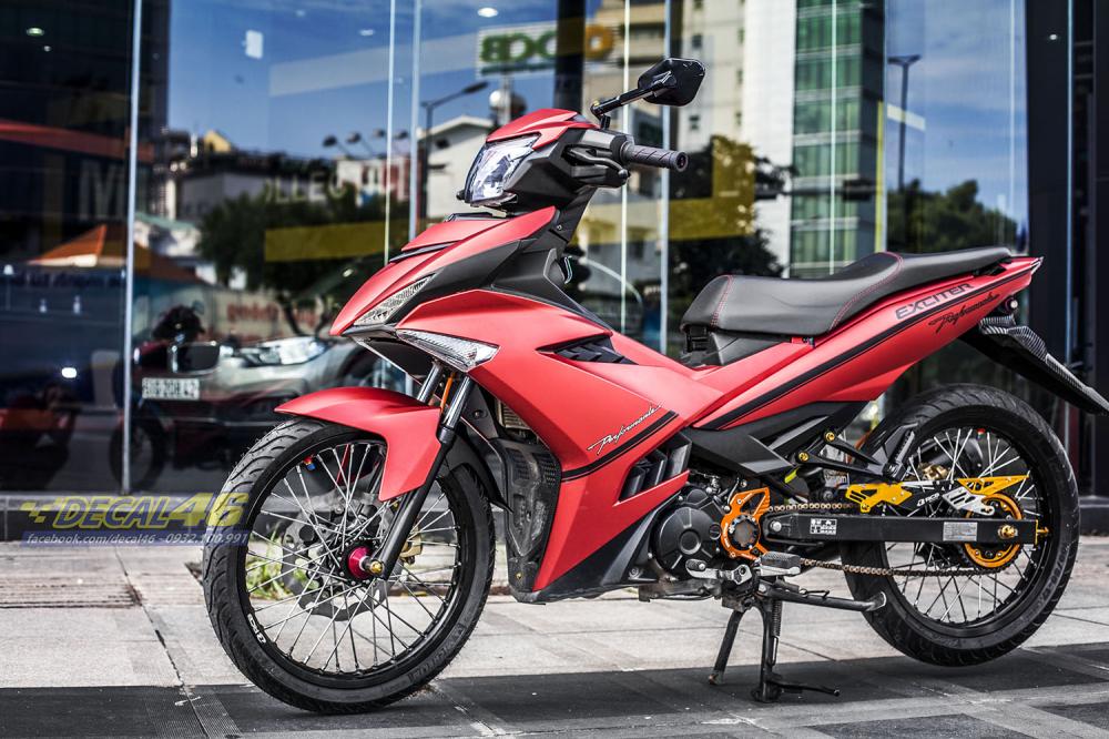 Tong hop tem xe Exciter 150 do den thang 52018 dep do Decal46 thuc hien - 19