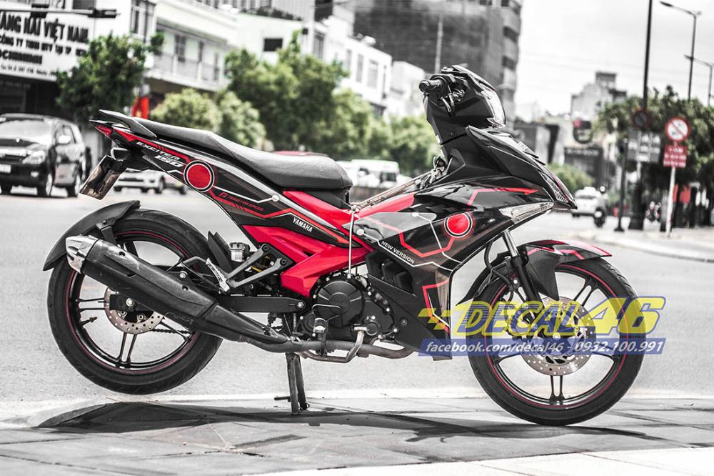 Tong hop tem xe Exciter 150 do den thang 52018 dep do Decal46 thuc hien - 28