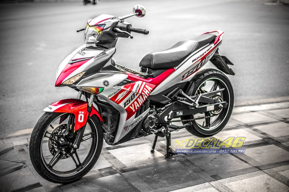 Tong hop tem xe Exciter 150 trang do chat thang 52018 do Decal46 thuc hien - 8