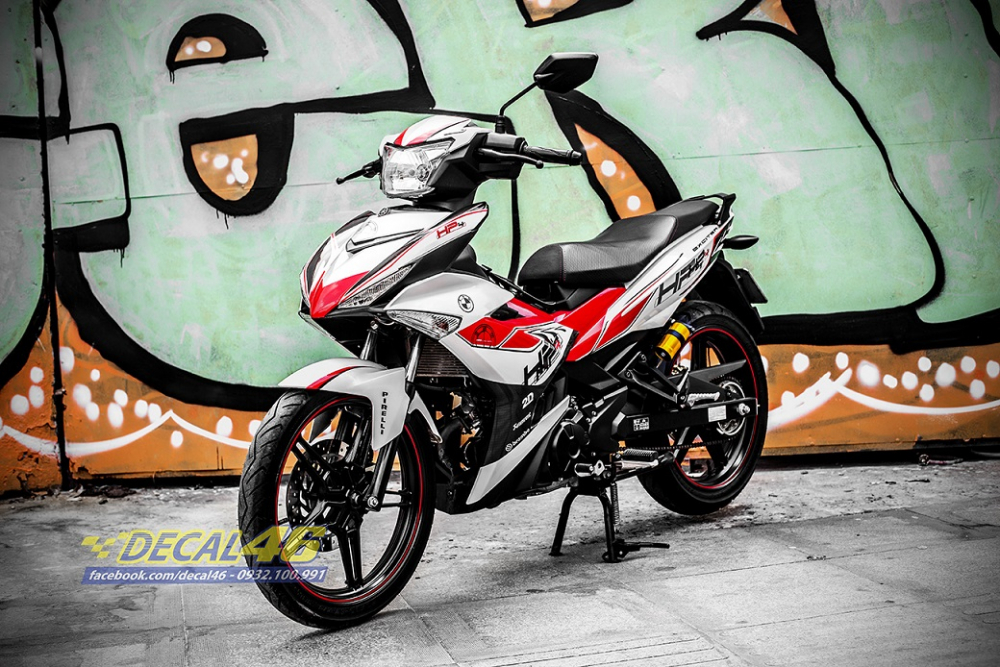 Tong hop tem xe Exciter 150 trang do chat thang 52018 do Decal46 thuc hien - 12