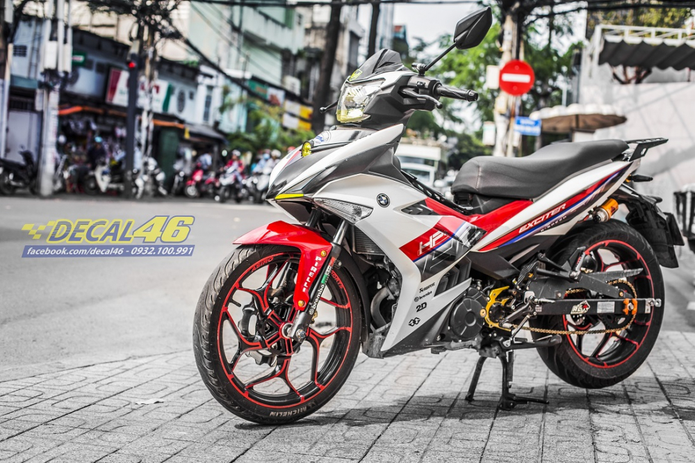 Tong hop tem xe Exciter 150 trang do chat thang 52018 do Decal46 thuc hien - 17