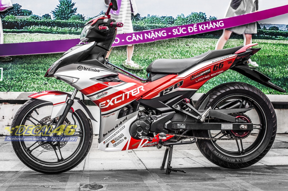 Tong hop tem xe Exciter 150 trang do chat thang 52018 do Decal46 thuc hien - 20