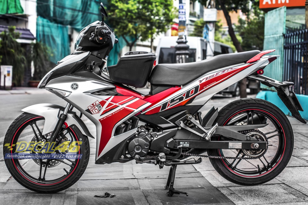Tong hop tem xe Exciter 150 trang do chat thang 52018 do Decal46 thuc hien - 22