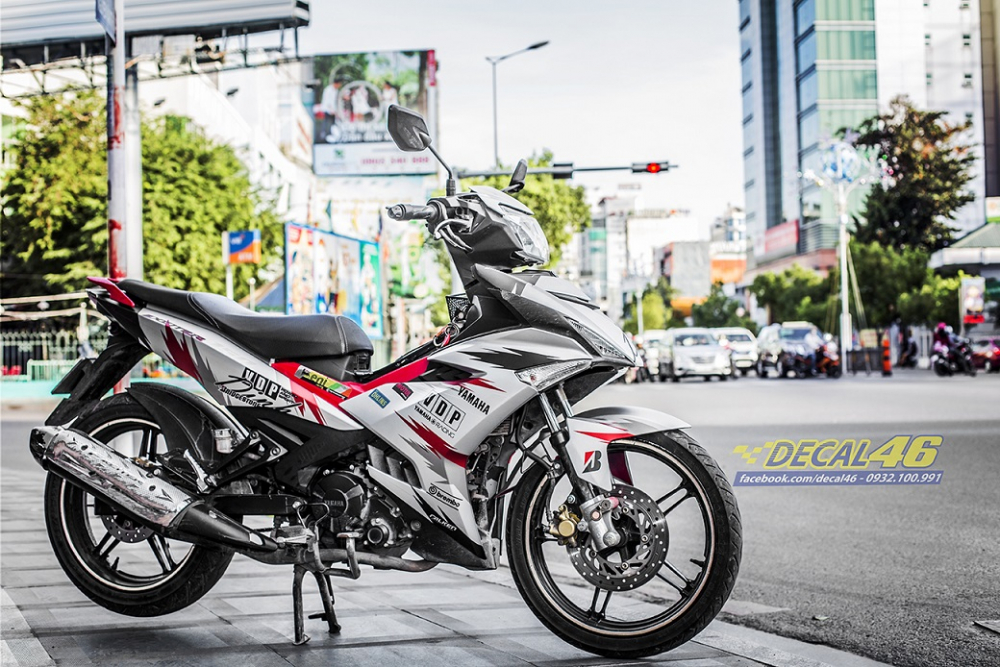Tong hop tem xe Exciter 150 trang do chat thang 52018 do Decal46 thuc hien - 30
