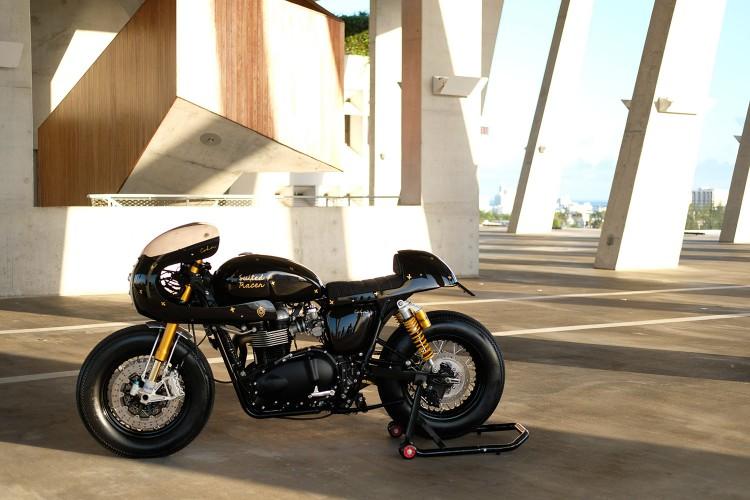 Triumph Thruxton dam phong cach Retro custom by Cohn Racers - 7