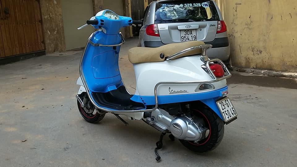 Vespa Lx 150cc nhap italia mau trang xanh bien HN - 2