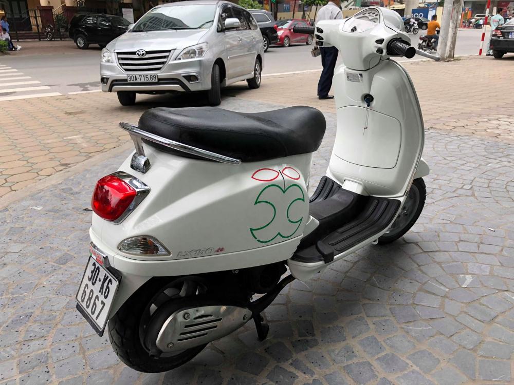 Vespa LX150 2009 co VN bks 30K nu C chu ban 195tr mau trang lap pk chinh hang - 3