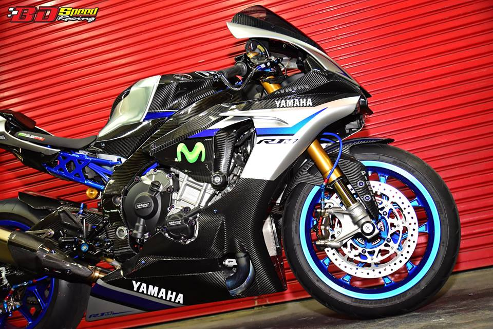 Yamaha R1M day suc hap dan voi body Carbon fiber - 4