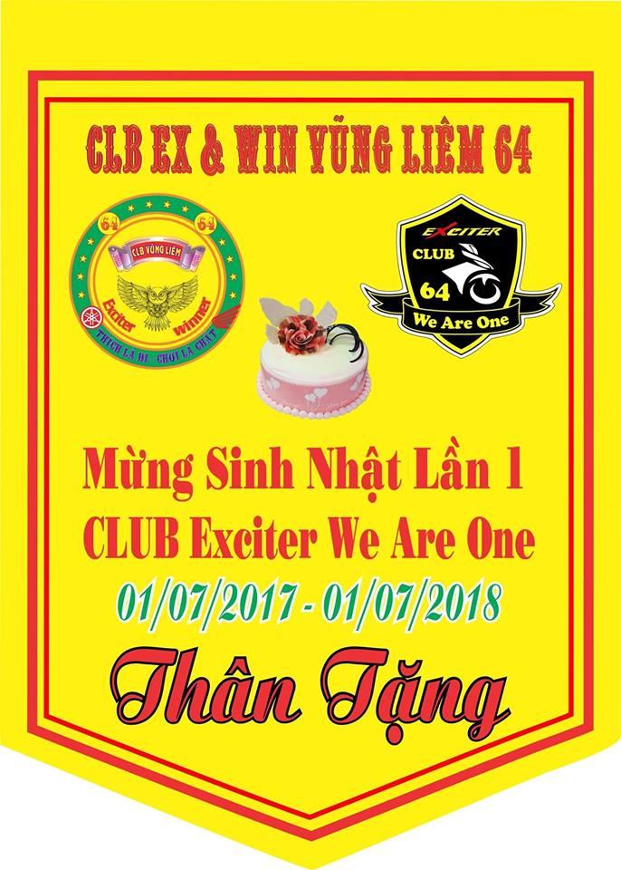 2banhvn Dong hanh cung Club Exciter We Are One 64 Vinh Long mung sinh nhat lan thu I - 10
