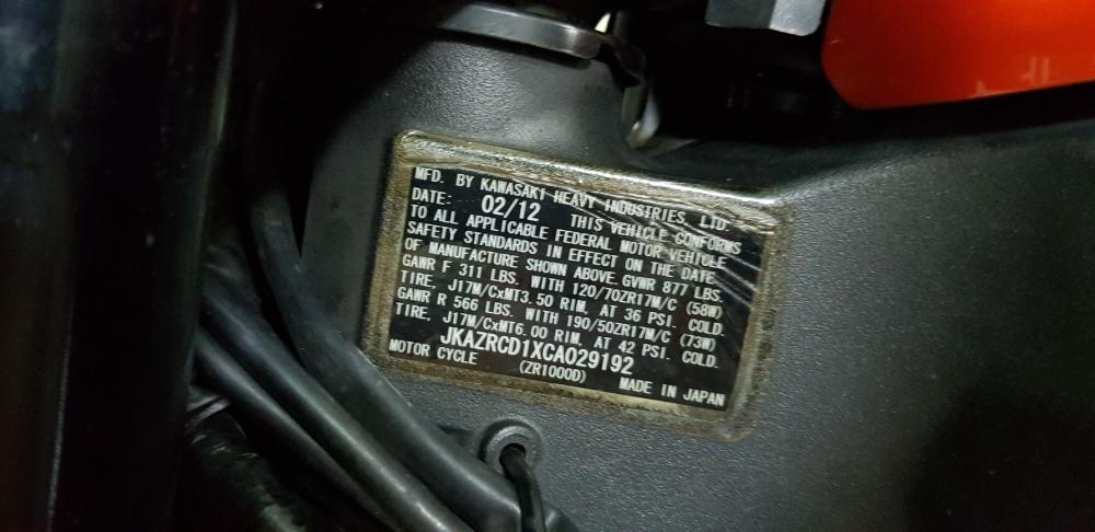 Ban Kawasaki Z1000 82012HQCNBien Saigon so dep 9 nutNgay chu - 27