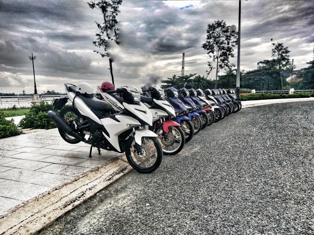 Exciter 150 bach ma cua biker Tien Giang