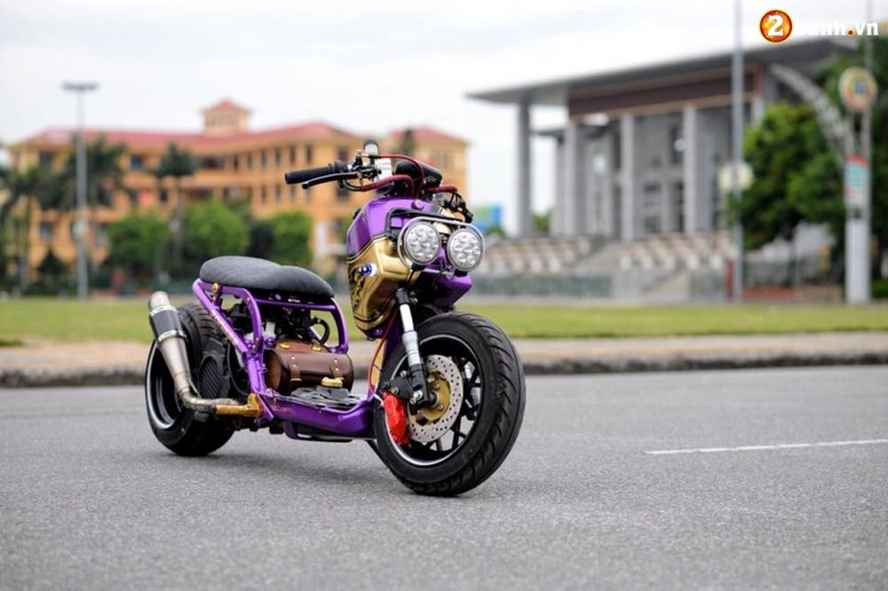 Honda Zoomer 50cc do doc dao voi phong cach Ruckus tren dat Viet