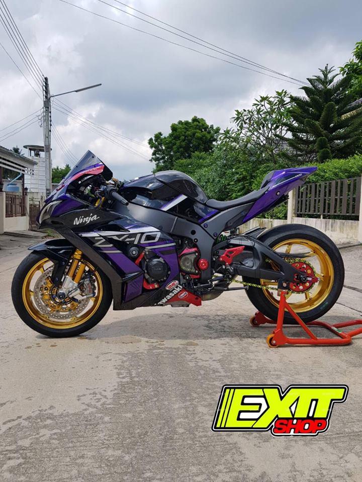 Kawasaki ZX10R ve dep tuyet sac ben tone mau tim mong mo - 8