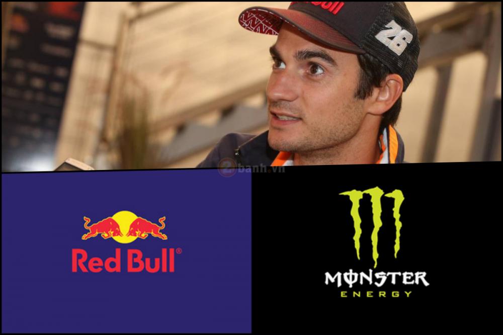 Monster va Red BullXung dot khi lam nha tai tro cho Dani Pedrosa