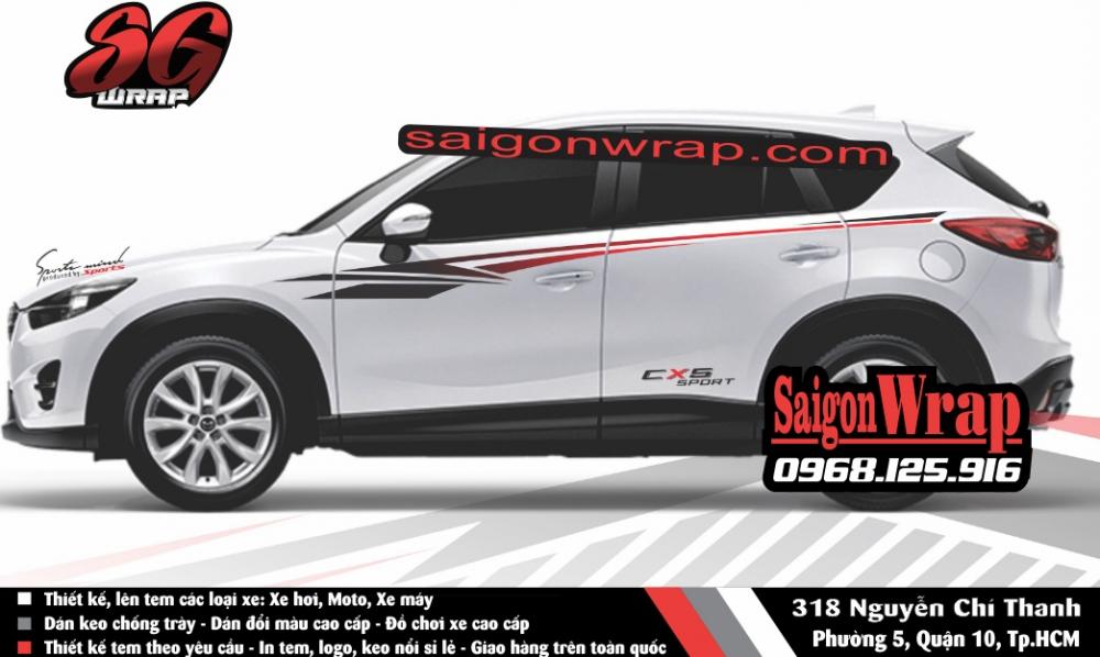 Tem Xe Mitsubishi Pajero Sport Kia Sorento Audi Q7 Isuzu MuX Lexus LX570 SaiGonWRAP - 6