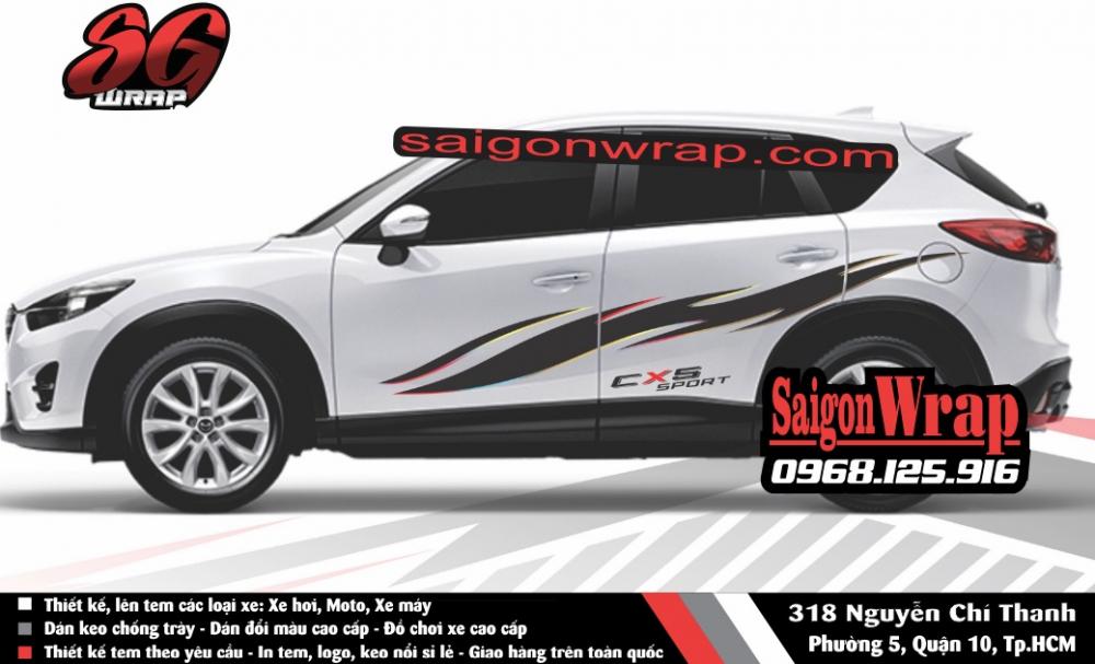 Tem Xe Mitsubishi Pajero Sport Kia Sorento Audi Q7 Isuzu MuX Lexus LX570 SaiGonWRAP - 7