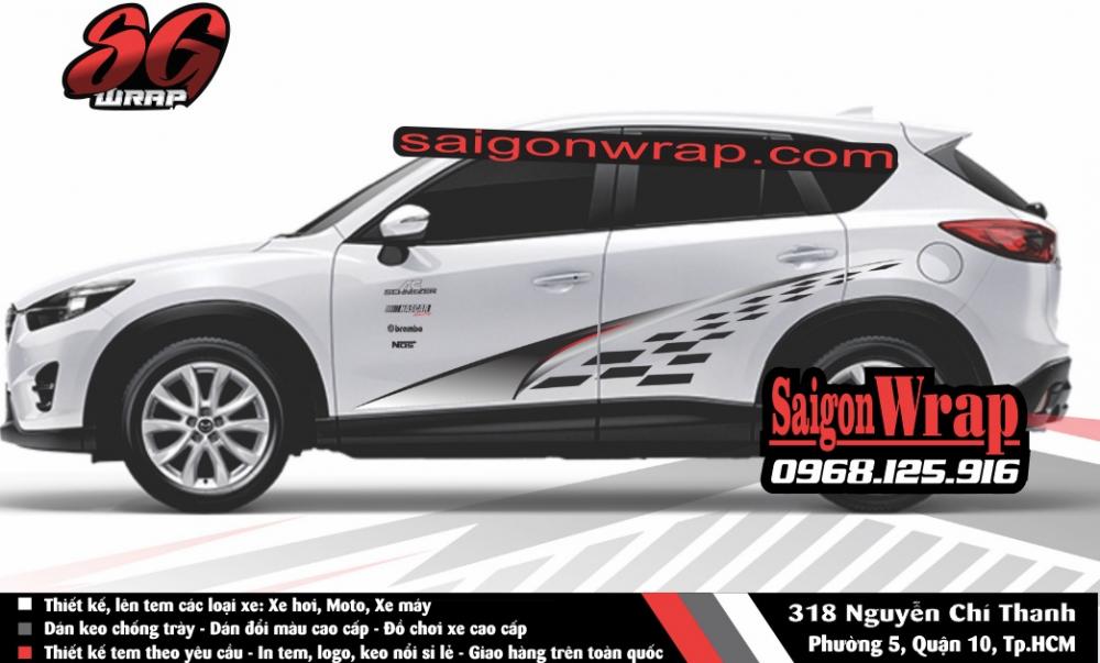 Tem Xe Mitsubishi Pajero Sport Kia Sorento Audi Q7 Isuzu MuX Lexus LX570 SaiGonWRAP - 12