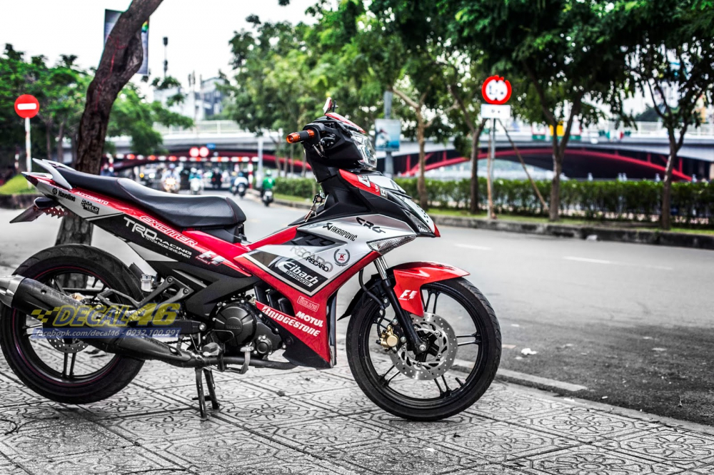Tong hop tem xe Exciter 150 trang do chat thang 62018 do Decal46 thuc hien - 34