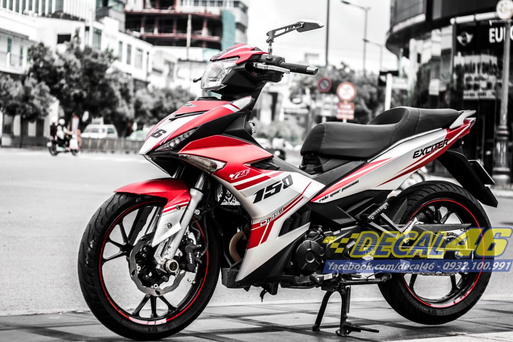 Tong hop tem xe Exciter 150 trang do chat thang 62018 do Decal46 thuc hien - 36