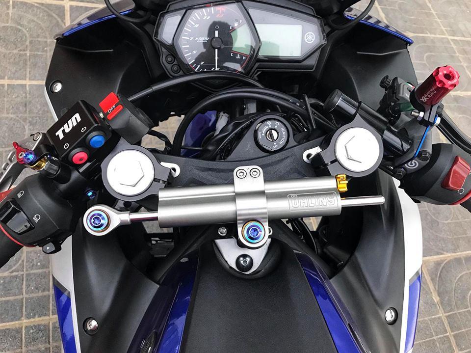 Yamaha R3 mau Sport city do phong cach Touring cua Biker Viet - 5
